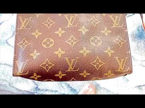 LOUIS VUITTON TOILETRY POUCH 19- Sticky Interior Removal and Cleaning