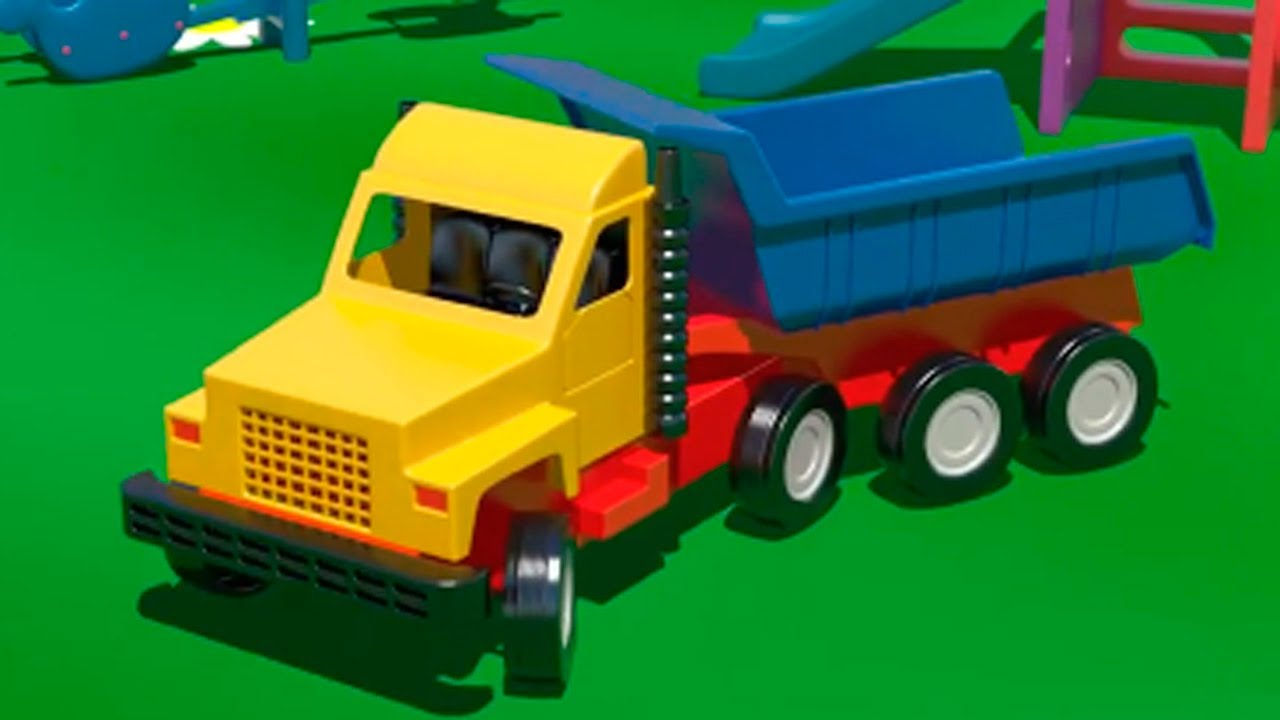 Big Trucks & Vehicles. Cartoons For Kids. Learn Numbers