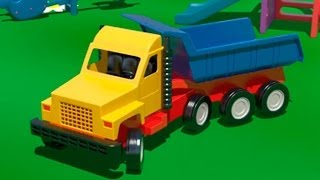 Big Trucks and Vehicles. Cartoons for Kids. Learn numbers [큰 트럭]