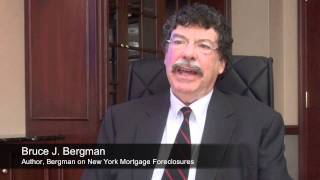 Bergman on The Foreclosure Epidemic - Talking About NY Foreclosure Law