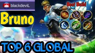 Best Build Bruno!!! Top 6 Global Bruno Amazing Enemy Auto Surrender || Mobile Legends Bang bang