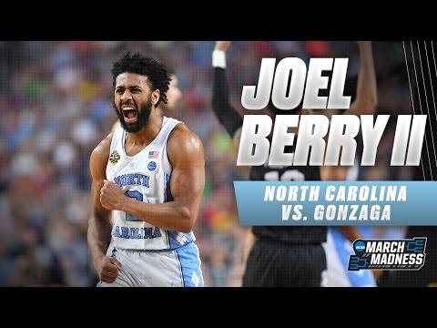 North Carolina vs. Gonzaga: Joel Berry II scores game-high 22 points!