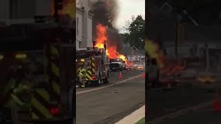 Minutes after Downtown Sun Prairie Explosion -- 7-10-2018