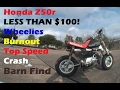 Honda Z50r Stunts, Jump, Burnout, Crash Top Speed and more!