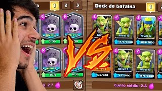 DECK SÓ DE GOBLINS VS. DECK SÓ DE ESQUELETOS NO CLASH ROYALE