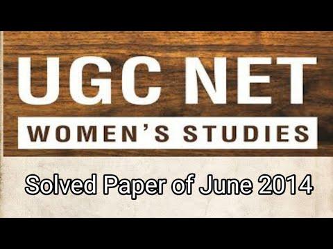 UGC net woman studies June 2014-part1