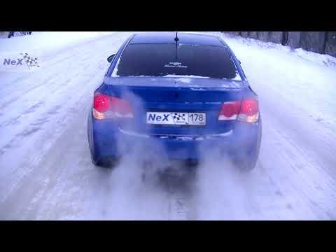 NeX® Chevrolet Cruze седан. Глушитель раздвоенный & насадки Ø101 мм. Вид, Звук, Цвет