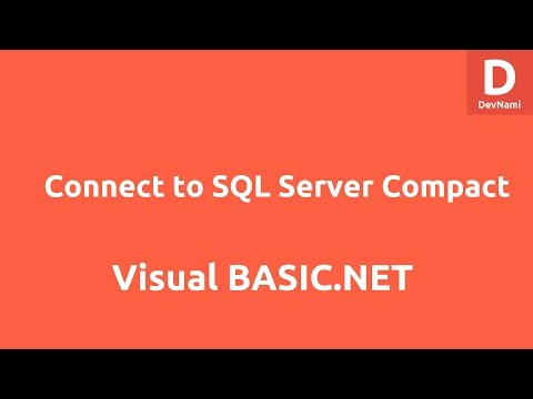 Connect To SQL Server Compact Using VB.Net