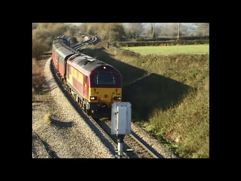 Railfreight in Dec.2001, 58021, 67s on Postals and new freightliner 66s.