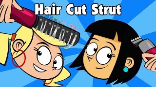 Kids song HAIR CUT STRUT children's country music line dance video by Preschool Popstars kid songs