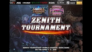 Zenith Tournament Mobile Legends Bang Bang Tournament - Day 1