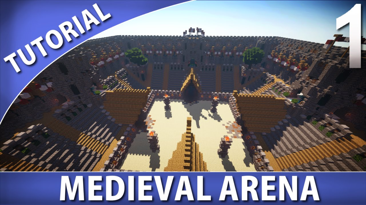 Minecraft How To Build A Medieval Arena Part 1 9 Youtube