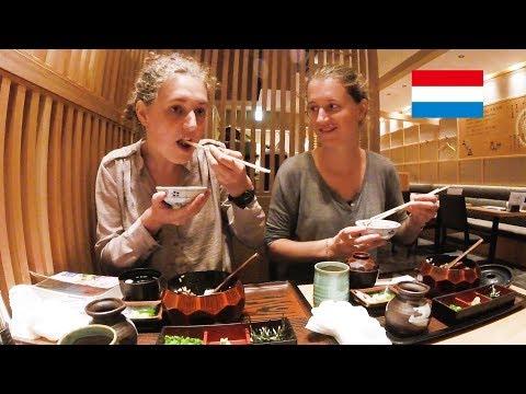 オランダ人姉妹������を味���/ Dutch girls try a japanese eel!