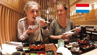 オランダ人姉妹がひつまぶしを味わう!/ Dutch girls try a japanese eel!