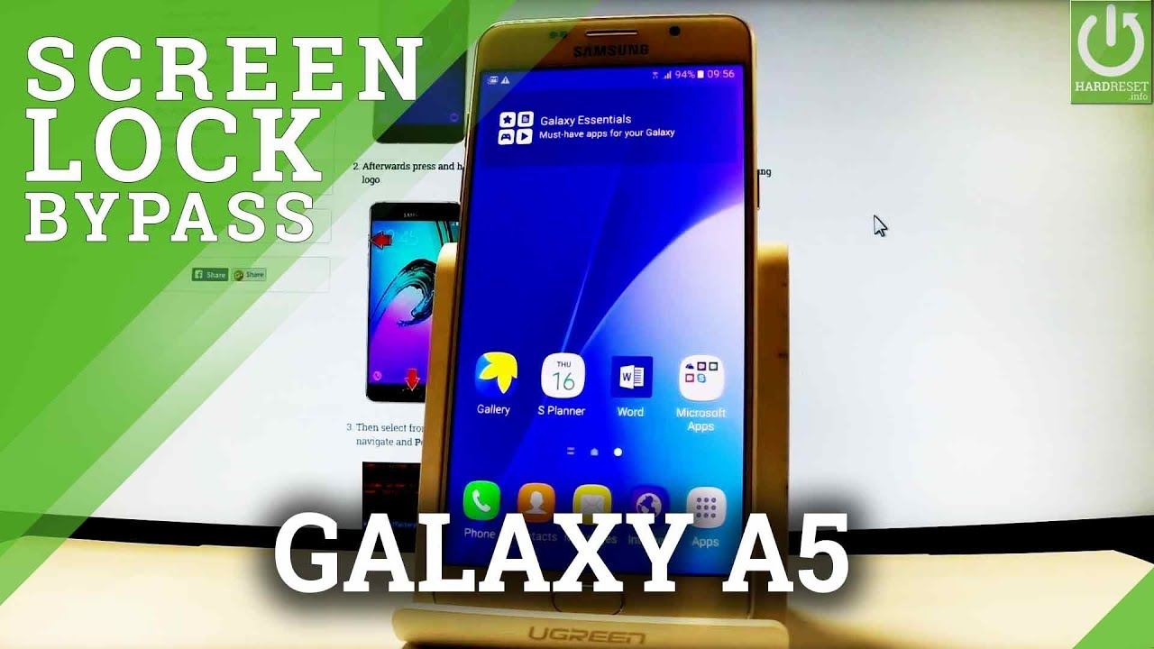 How To Hard Reset Samsung Galaxy A5 2016 Bypass Pattern Restore Settings Youtube