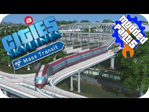 Cities Skylines Gameplay: MONORAIL/TRAM/TRAIN/BUS MEGA-HUB Cities: Skylines Mods MASS TRANSIT Part 5