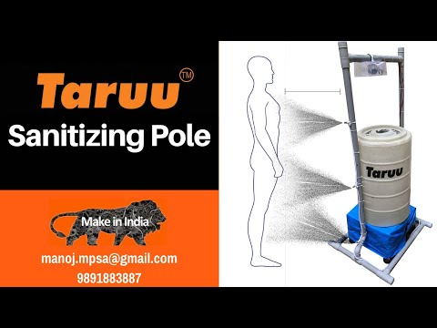 Disinfectant Sprayer - Compact Sanitizer Spray Pole | Make In India | TARUU™