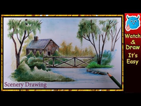 how-to-draw-scenery-of-nature-(easy-pencil-drawing-for-children)