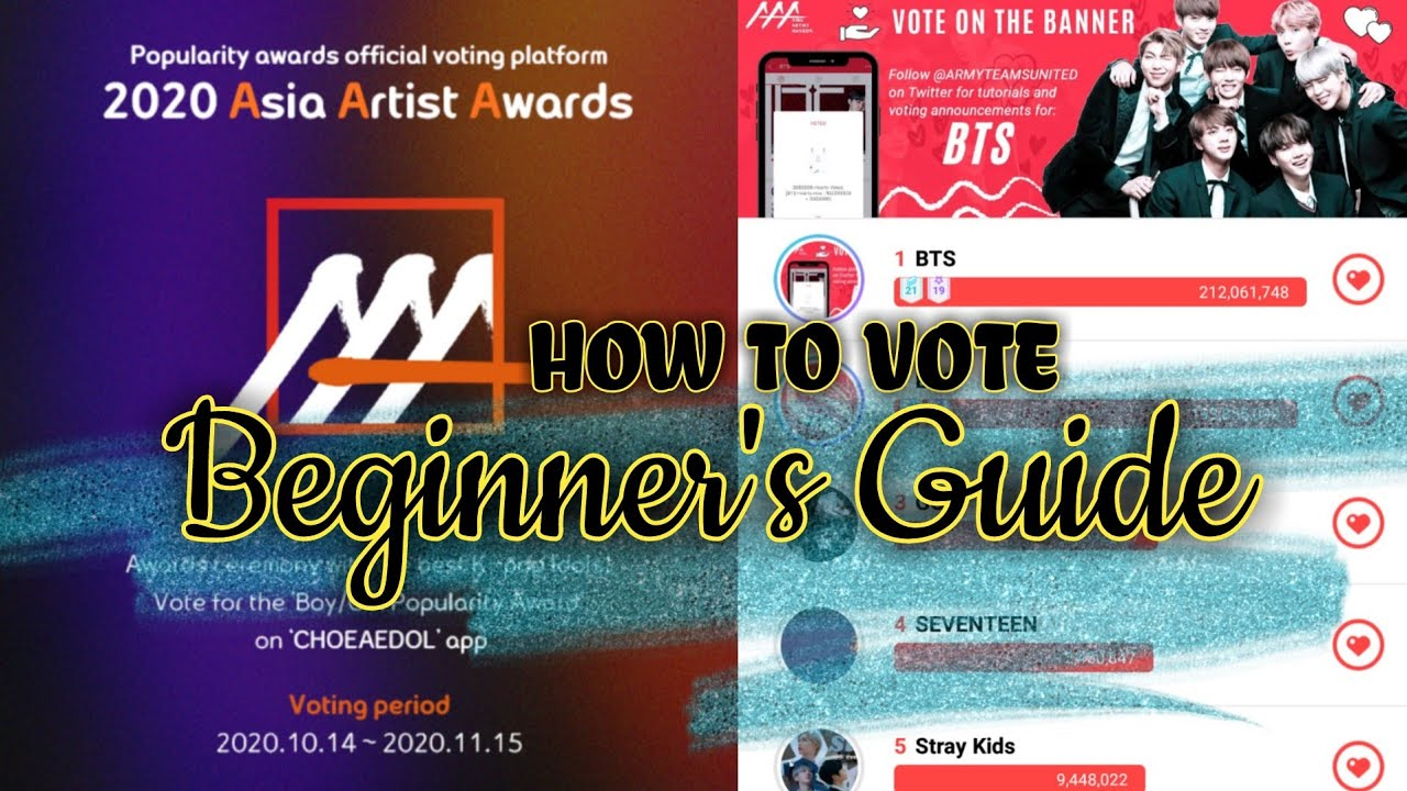Tutorial How To Vote Bts For Asia Artist Awards 2020 Popularity Award Sign Up Beginners Guide Youtube
