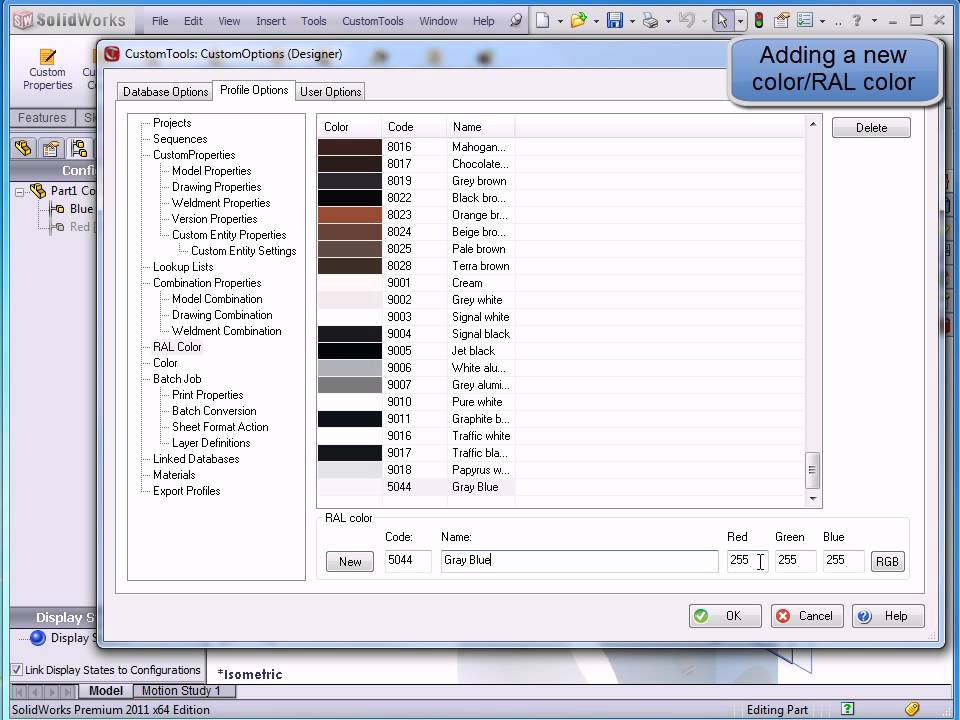 Adding A New Color Ral Color Youtube