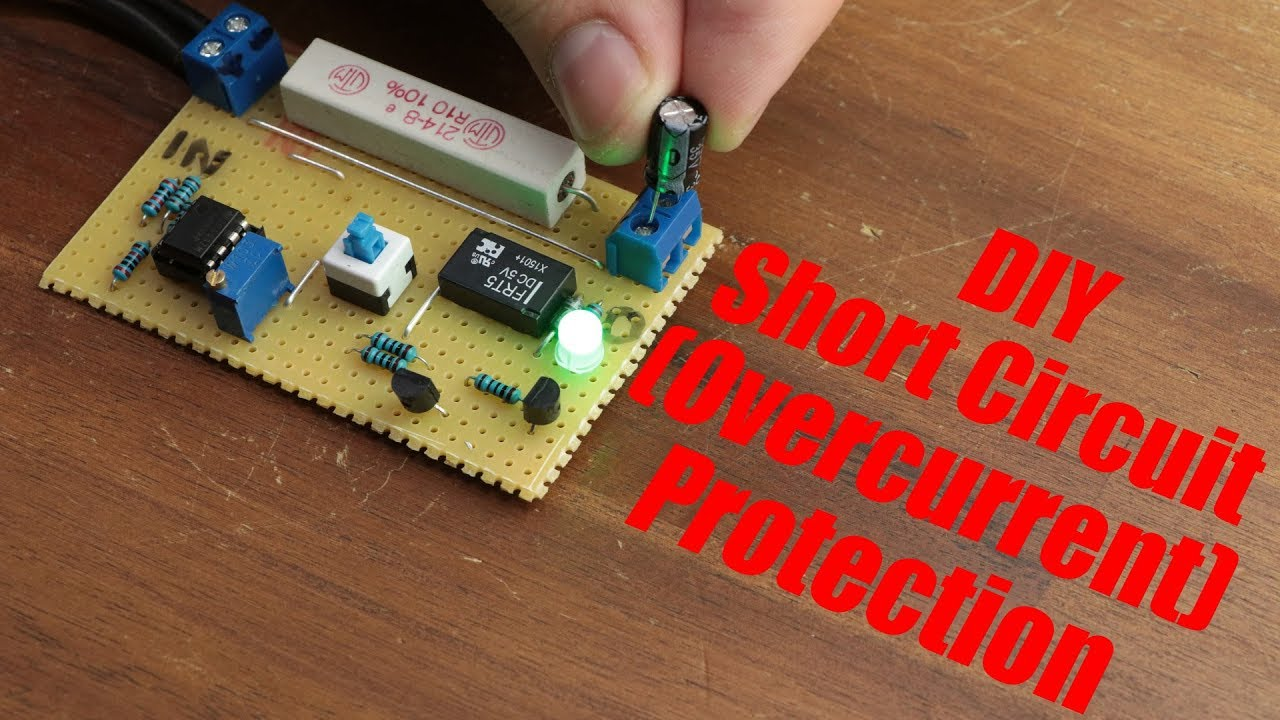 24 Volt Relay Wiring Diagram Tekonsha P3 Diy Short Circuit Overcurrent Protection Youtube