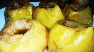 Яблоки в духовке с сахаром и корицей / Запеченные яблоки