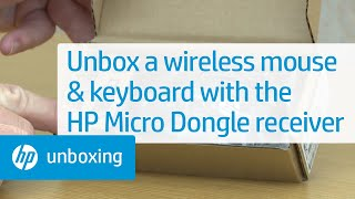 Unboxing a Wireless Mouse and Wireless Keyboard with the New HP Micro Dongle Receiver