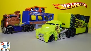 Hot Wheels Rock N Race Vs Road Rally Transporter Trucks Toy Review