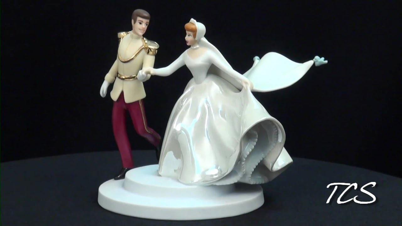 WDCC Cinderella And Prince Cake Topper Fairy Tale Wedding