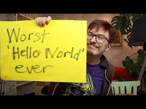 Worst 'Hello World' ever - Let's code - Fun Fun Function