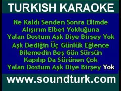 Kurban  Yalan Dostum ///KARAOKE///(MK life)