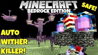 Minecraft Bedrock: Safe Automatic Wither Killer Tutorial! MCPE PC Xbox