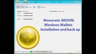 SCAM Mooncoin (MOON) Windows Wallets Installation and back up