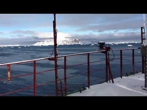 "Antarctica 2012 - Base Marambio - Helicopter Kamov Ka32 on-board ""Vasily Golovnin"""