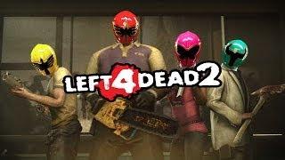 Left 4 Dead 2 Power Rangers vs Minecraft Mobs