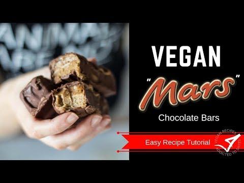 Healthy MARS Bars    Vegan + Gluten Free Recipe
