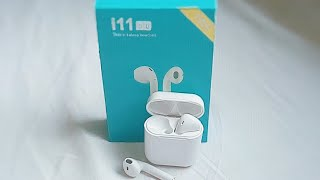 UNBOXING I11 TWS WIRELESS BLUETOOTH HEADSET AIRPODS