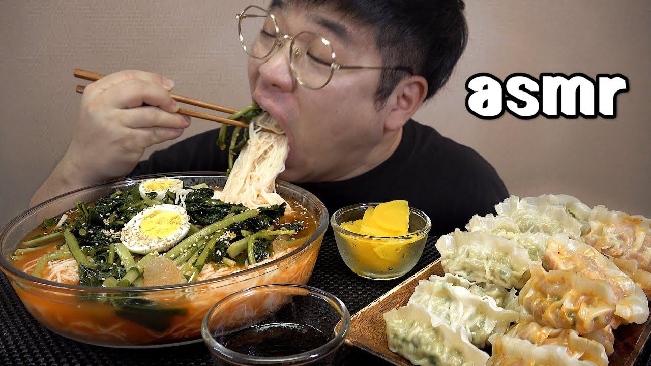 먹방창배tv 열무물국수 피가얇은만두 시원하게 후루룩 korean Kimchi ColdNoodle mukbang Legend koreanfood asmr
