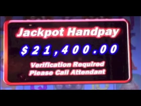 $21,400 WIN! 🎰 Slot Machine Bonus on the Red Rooster at the Bellagio in Las Vegas