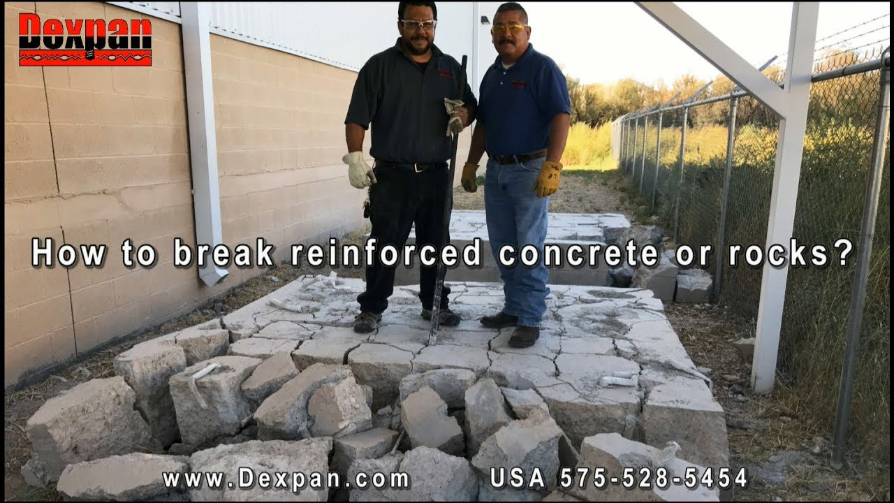 How to break concrete or crack, split rocks easily? Dexpan