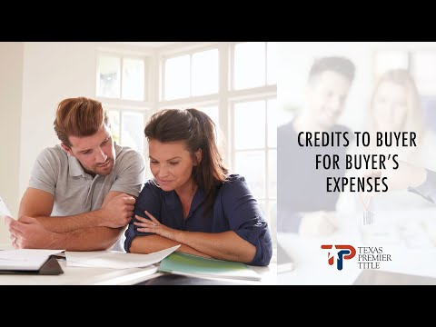 Credits to the Buyer for Buyer's Expenses