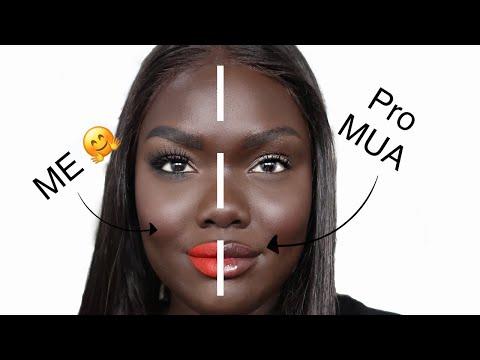 How a PRO MUA would do my Makeup vs ME    Nyma Tang