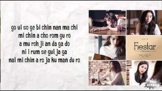 FIESTAR - MIRROR Lyrics (easy lyrics)