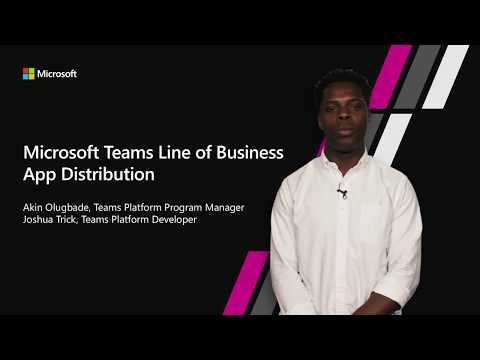 Write, package and distribute apps to your organization with LOB app distribution support in teams
