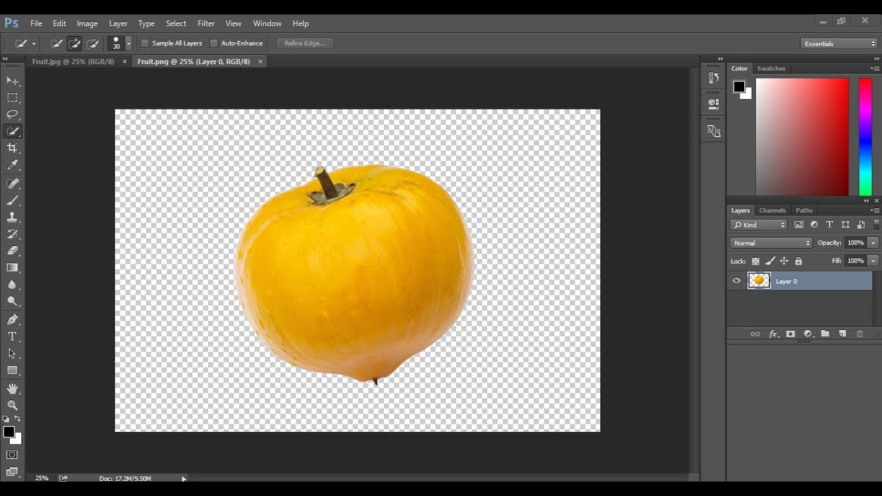 How To Save Transparent Background In Photoshop Cc 2017 Youtube