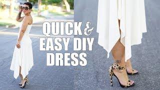 TUTORIAL: ONE HOUR OR LESS DIY DRESS