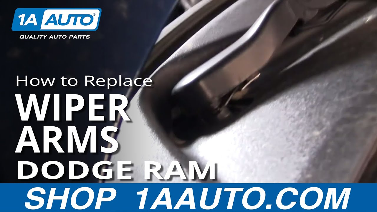 how to install repair replace broken wiper arm dodge ram 2002 04 1aauto com youtube [ 1920 x 1080 Pixel ]