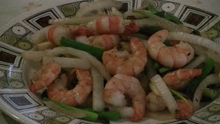 Ginger Garlic Prawns Cantonese Style   (fast Chinese Cooking)
