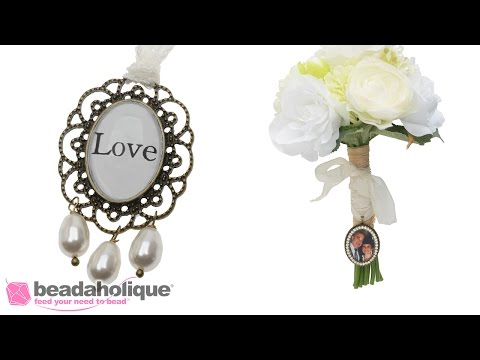 How to Make Bridal Bouquet Charms to Personalize Your Wedding