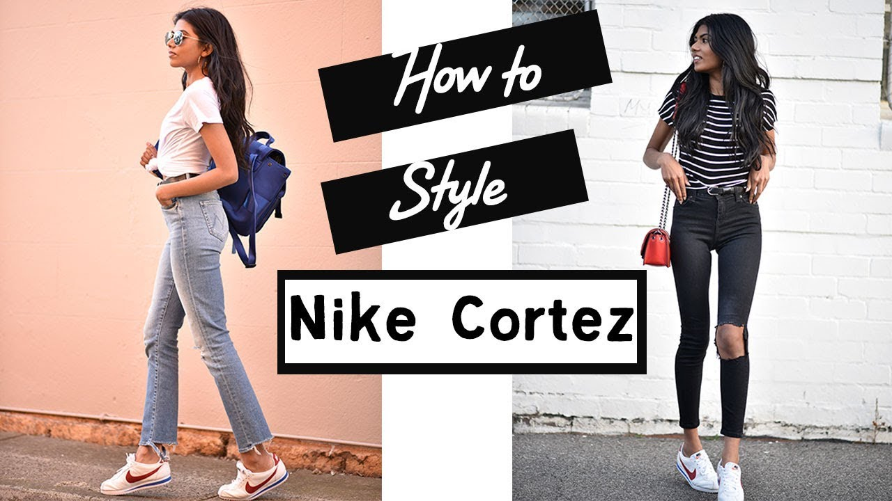sale retailer d9685 e1228 How to Style  Nike Cortez